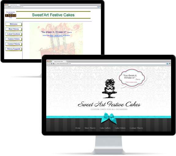 Sweet Art Festive Cakes Proposed Website Design
